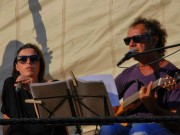 concert sur le port d'Alghero - sept 2014 soundcheck - photo piergiorgio annicchiarico